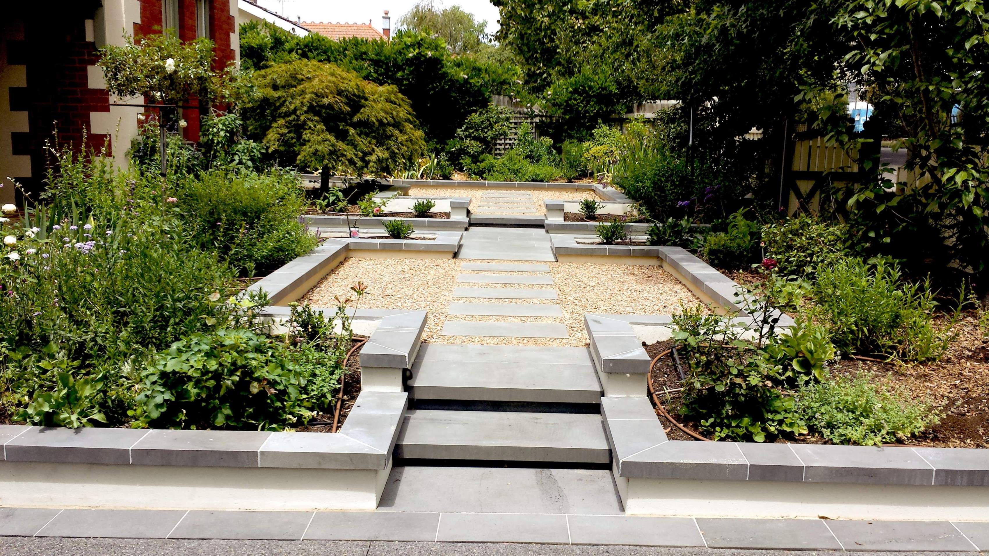 Canterbury hedge and stone for Canterbury landscape design
